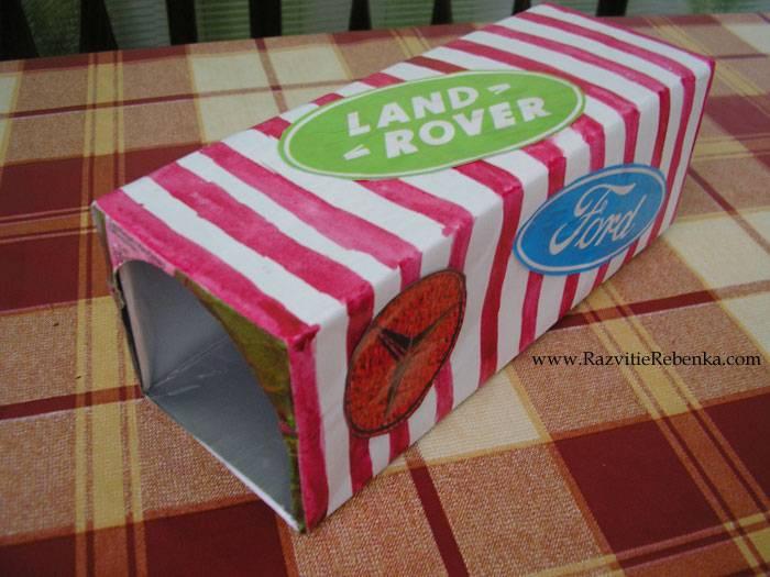 Какие поделки можно сделать из коробок от сока?