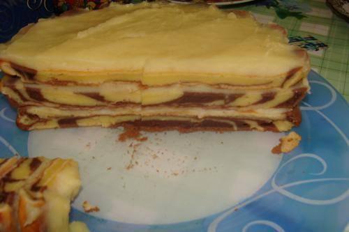 Торт зебра крем рецепт с фото