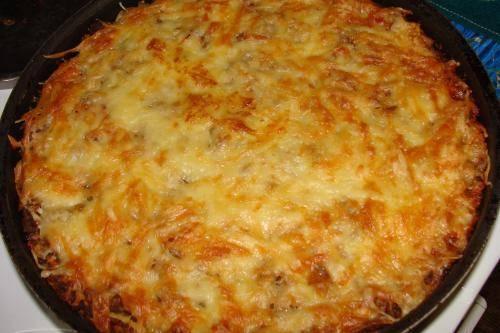 Запеканка картофельная с тертым картофелем и фаршем в духовке рецепт