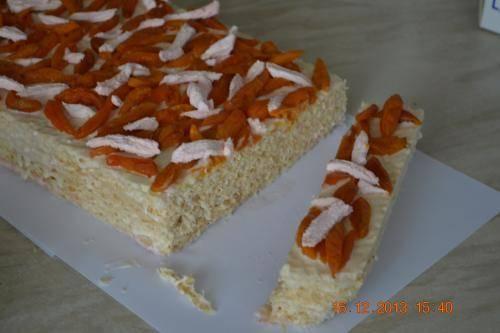 Вафельный торт с зефиром